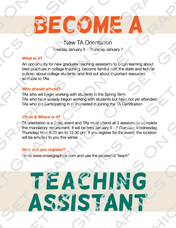 Teaching Assistant Flyer