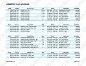 Chemistry College Schedule