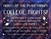 College Nights and the Planetarium