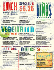 Lunch Menu Ninos