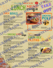 LUNCH MENU TAKE OUT