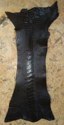 OSTRICH LEG SKIN - BLACK - Matte