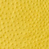 Ostrich Skin Leather - YELLOW PEARL - 19.2 sq ft - Grade 1