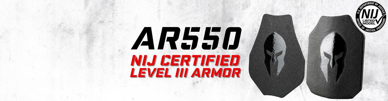 NIJ certified body armor