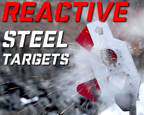 reactive ar500 steel targets and diy steel targets