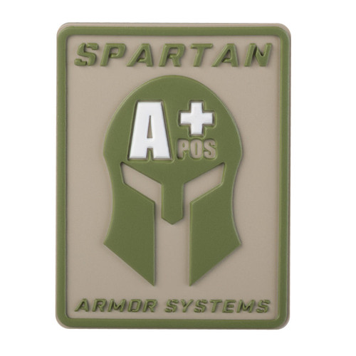 Spartan Armor Systems Blood Type Patch- A+
