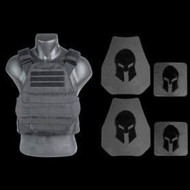 Black Spartan Swimmers Cut carrier and AR550 body armor package