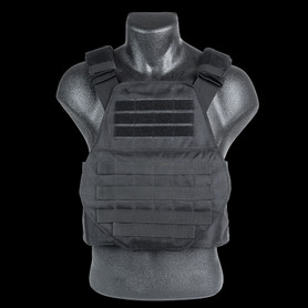 Black Spartan Swimmers Cut Plate Carrier Front