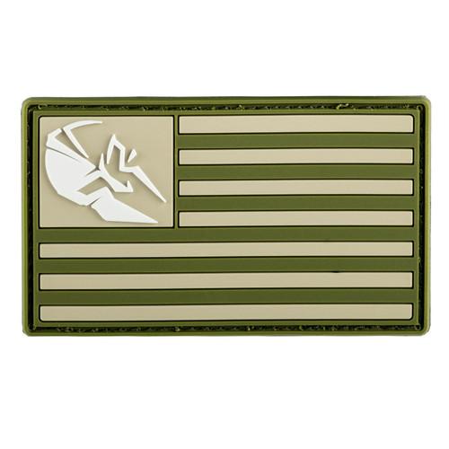 Spartan Armor FDE & OD Green PVC Patch American Flag