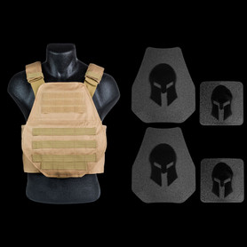 AR500 Body Armor and Spartan Swimmers Cut Plate Carrier Package *SPECIAL
