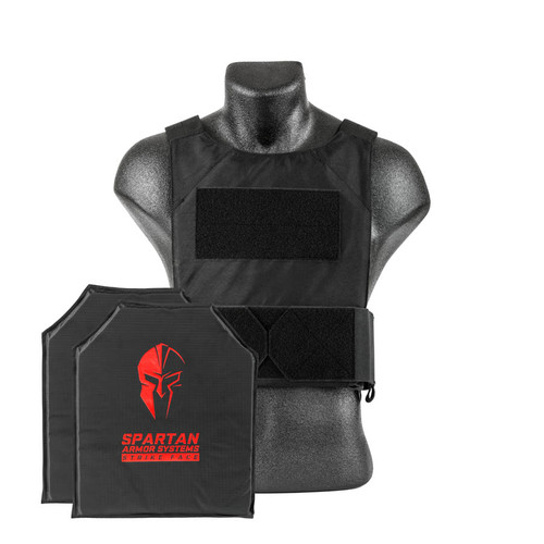 Black Spartan Armor Systems™ Flex Fused Core™ IIIA Soft Body Armor and Spartan DL Concealment Plate Carrier