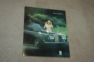 Silver Shadow and Corniche Brochure