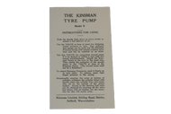 Tyre Pump Instruction Sheet