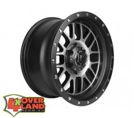 "17"" Alpha Wheels Black & Machined Finish Ford"