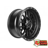 "17"" Alpha Wheels Satin Black Finish Jeep"
