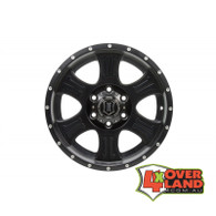 "17"" Shield Wheels Satin Black Finish Jeep"