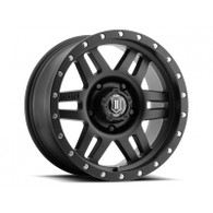 "17"" Six Speed Wheels Satin Black Finish for Ford"