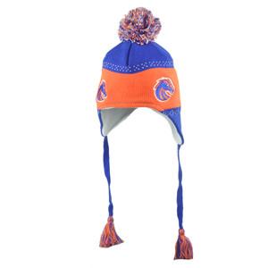 NCAA Boise State Broncos Flap Jack Pom Pom Tassel Ear Flap Knit Beanie Hat Toque