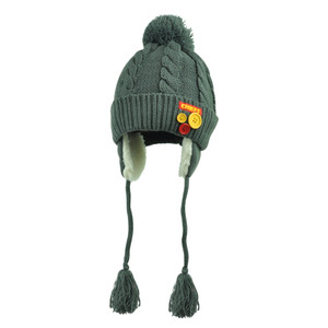 NFL Kansas City Chiefs Brovliski Pom Pom Ear Flap Tassel Crochet Beanie Knit Hat