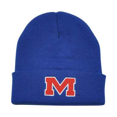 25011ae090d NCAA Mississippi Rebels Ole Miss Cuff Gilbert Blue Knit Beanie Toque Hat  Winter - Cap Store Online