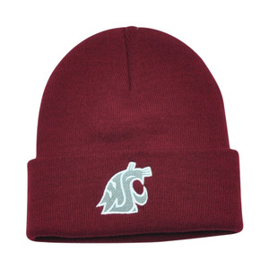 NCAA Washington State Cougars Dusy Cuffed Knit Beanie Toque Skully Hat Maroon