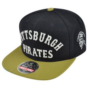 MLB American Needle Pittsburgh Pirates Giant Chamber Throwback Snapback Hat Cap