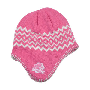 NCAA Boise State Broncos Chalet Ear Flap Toddler Girls Knit Beanie Toque Pink