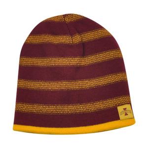 NCAA Iowa State Cyclones Kinsella Reversible Knit Beanie Stripe Toque Hat Skully