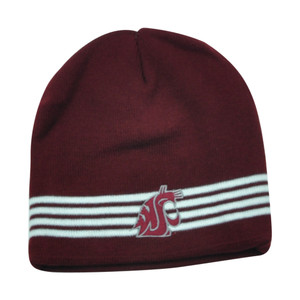 NCAA Washington State Cougars Verified Cuffless Striped Beanie Knit Toque Hat