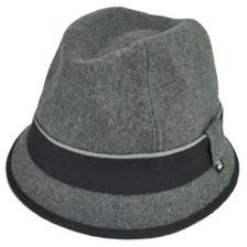 9695a8a4f618b Block Headwear Brand Wool Plain Band Grey Fedora Stetson Dune Trilby Hat  Medium
