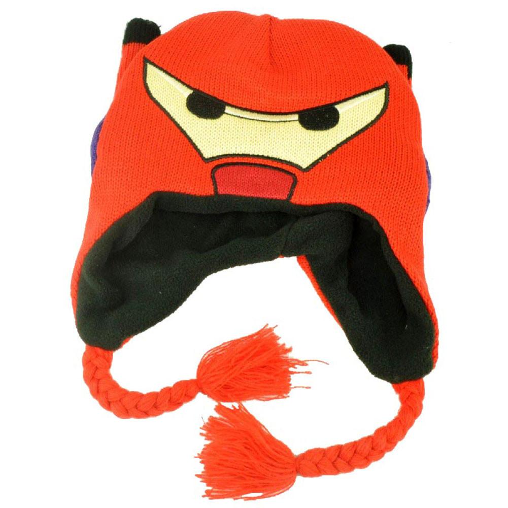 Disney Big Hero 6 Baymax Peruvian Youth Knit Ear Flap Beanie Movie ... ea4b66cce423