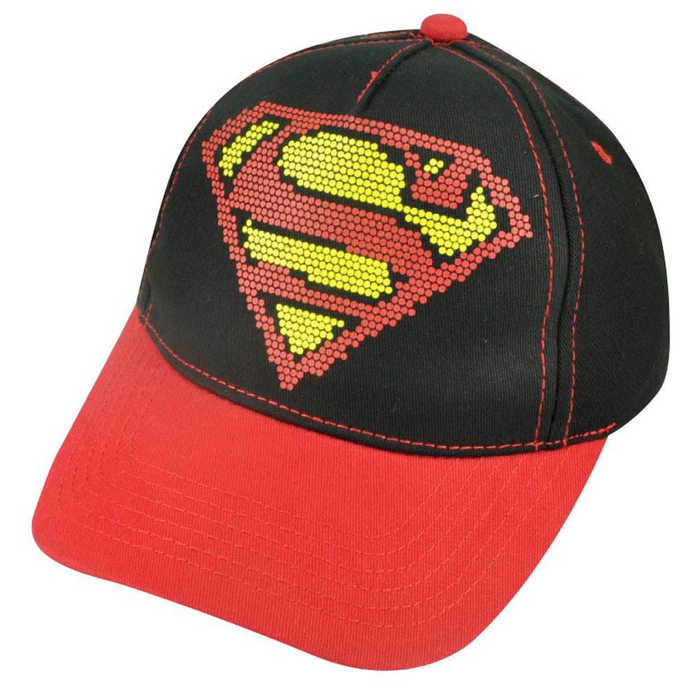 DC Comics Superman Man of Steel Dotted Logo Youth Hat Super Hero ... 983ffe4bdab8