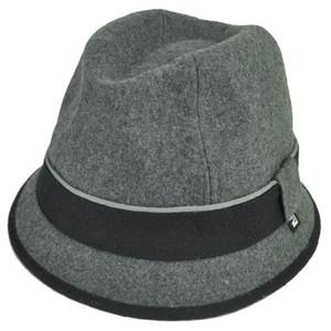 Block Headwear Brand Wool Plain Band Grey Fedora Stetson Dune Trilby Hat Large