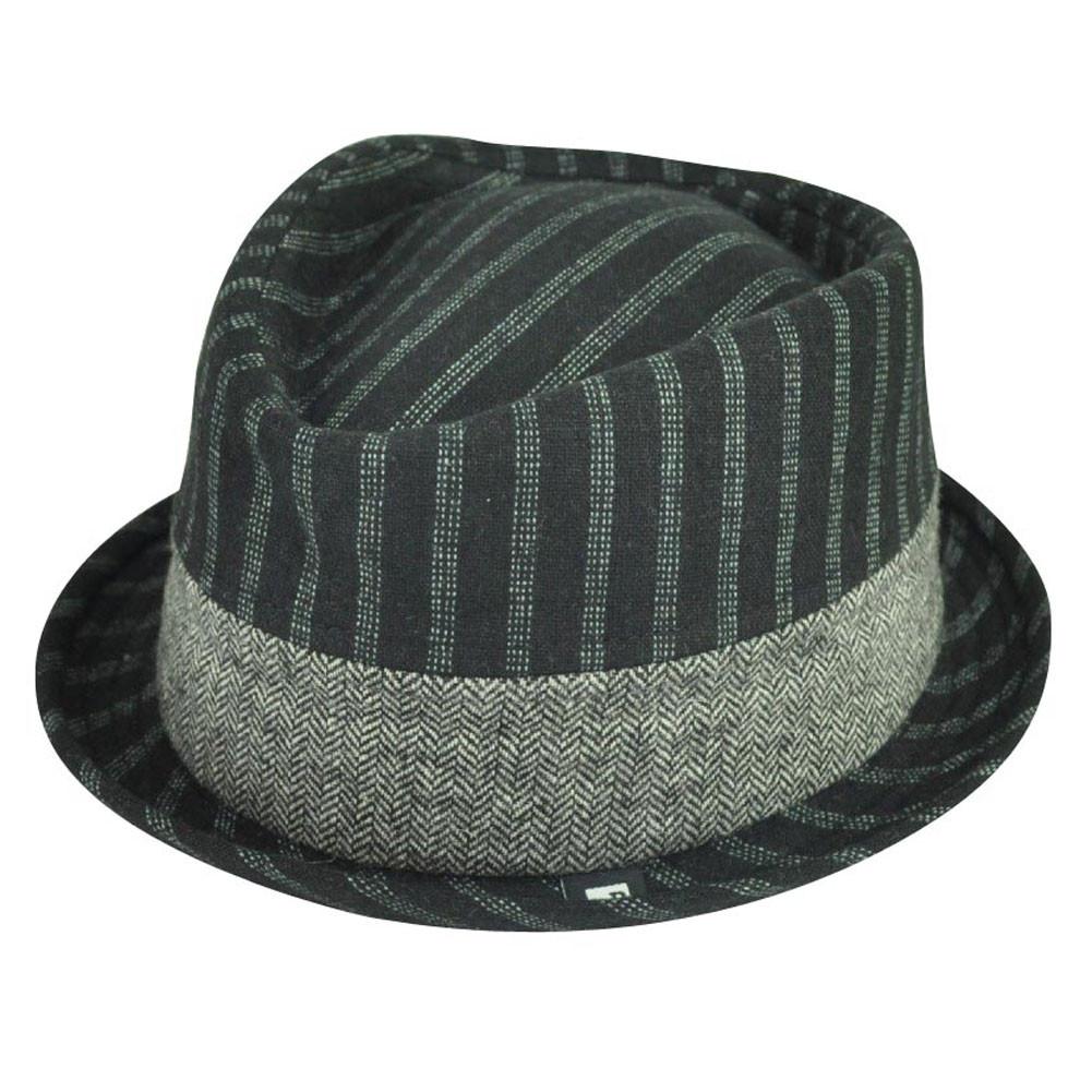 eec330571d225 Block Headwear Brand Pinstripe Herringbone Blk Fedora Stetson Trilby ...