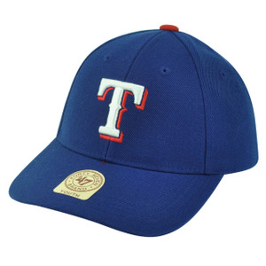 MLB '47 Brand Youth Texas Rangers Velcro Adjustable Boys Blue Hat Cap Baseball