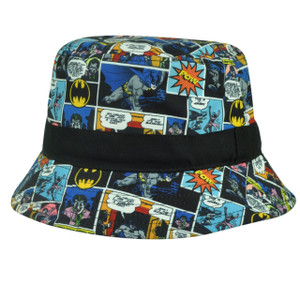 Batman Hero Cartoon DC Comic Book Strip Dye Sublimated Sun Bucket Youth Crusher
