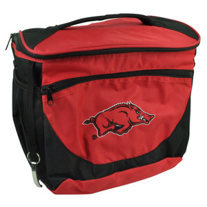 NCAA Arkansas Razorbacks 24 Can Cooler Bag Mavrik Carry Soda Beer Drink Red