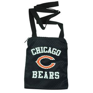 NFL Chicago Bears Messenger Jersey Mesh Bag Ladies Women Handbag Purse Blue