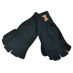NCAA '47 Brand Illinois Fighting Illini Fingerless Gloves Knitted Winter Mittens