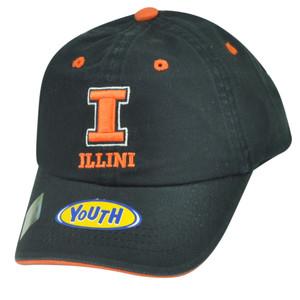 NCAA Illinois Fighting Illini Garment Wash Relaxed Hat Cap Youth Sun Buckle Navy