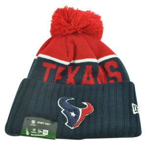 NFL New Era Houston Texans Sport Knit Beanie Pom Pom Cuffed Hat Winter Toque