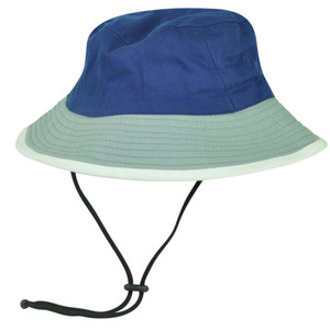 Blue Grey Sun Bucket Crusher Fisherman Hat Blank Outdoors One Size Two Tone