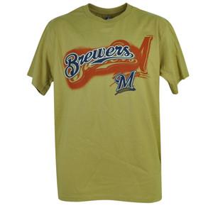 MLB Milwaukee Brewers Dynamic Play Tshirt Tee Mens Adult Short Sleeve Cotton