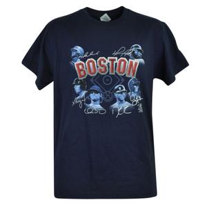 MLB Boston Red Sox Buchholz Bogaerts Napoli Victorino Mens Tshirt Tee Navy Cotton