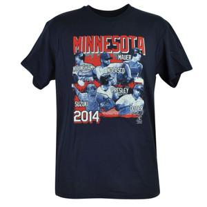 MLB Minnesota Twins Mauer Dozier Suzuki Willingham Nolasco Tshirt Tee Mens Cotton