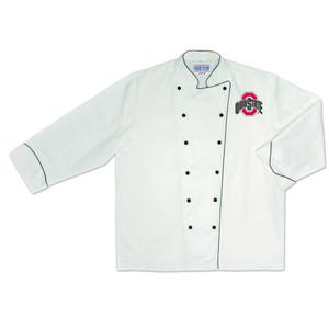 NCAA Ohio State Buckeyes Premium Chef Coat Professional Style Tailgate White