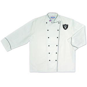 NFL Oakland Raiders Premium Chef Coat Professional Tailgate Style White