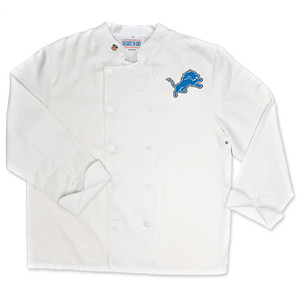 NFL Detroit Lions Classic Chef Coat Professional Style Tailgating White