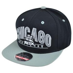 MLB American Needle Chicago White Sox Archer Snapback Flat Brim Baseball Hat Cap