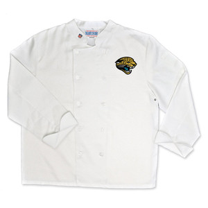 NFL Jacksonville Jaguars Classic Chef Coat Professional Style Mens White